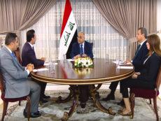 رئيس الوزراء العراقي عادل عبد المهدي في حوار مع وسائل الاعلام العراقية والعربية