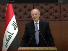 المؤتمر الصحفي لوزير المالية الدكتور علي عبد الامير علاوي بخصوص جلسة مجلس الوزراء الاستثنائية