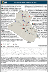 Iraq Situation Report August 23-30. 2016 image