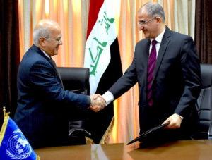 UNDP-IQ-FFER Signing-Mounir Tabit UNDP CD-The Prime Minister's Deputy Chief of Staff Naoufel Al-Hasan-20162901