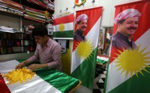 Barazani with KRG flag