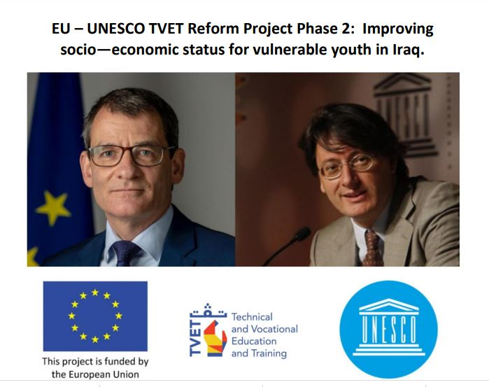 EU – UNESCO TVET Reform Project Phase 2: Improving socio-economic status for vulnerable youth in Iraq