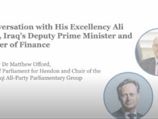 Webinar: In Conversation with H.E. Ali Allawi, Iraq's Deputy Prime Minister and Minister of Finance